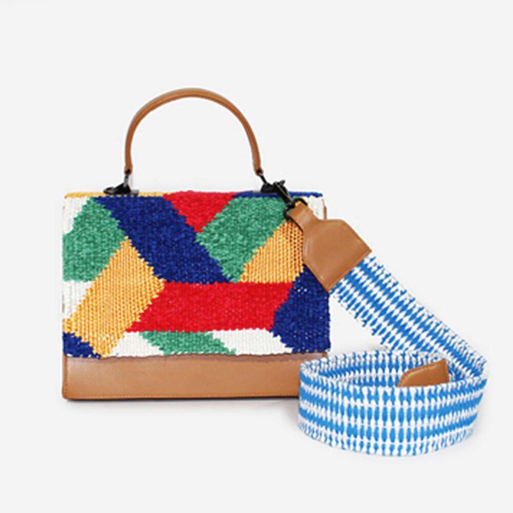 Bellina Blue - Flap Bag Caramel