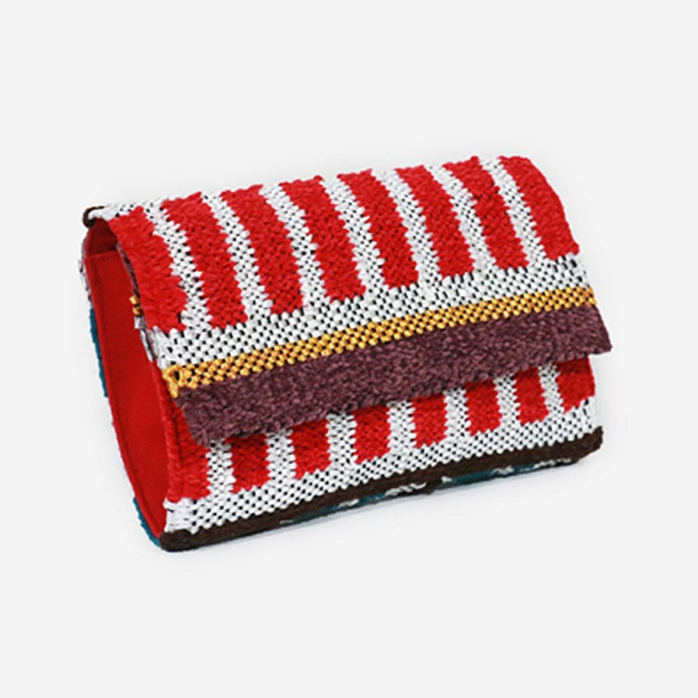 Kamaria Red - Hand Woven Clutch Bag