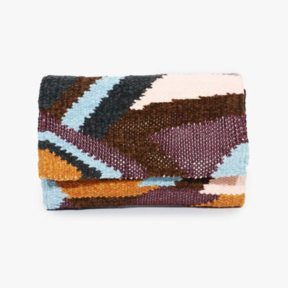 Snazzy Brown - Hand Woven Clutch Bag