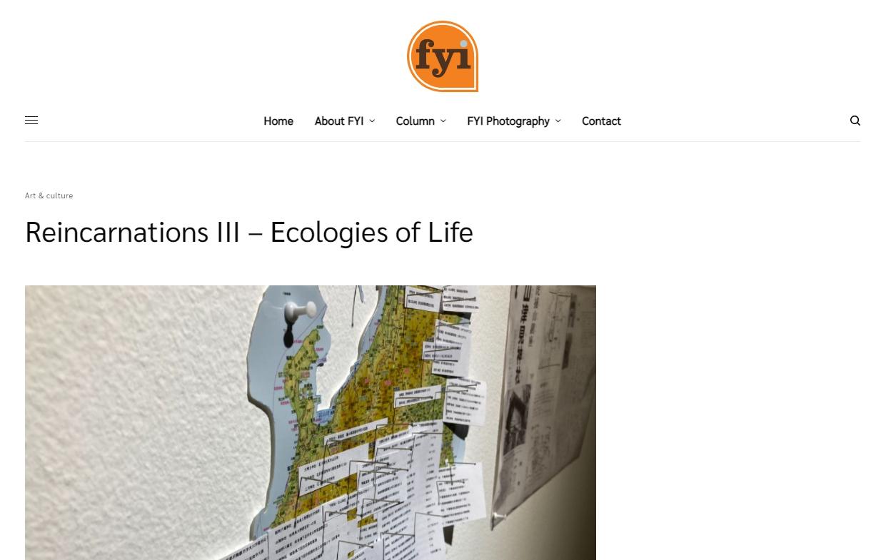 Reincarnations III – Ecologies of Life
