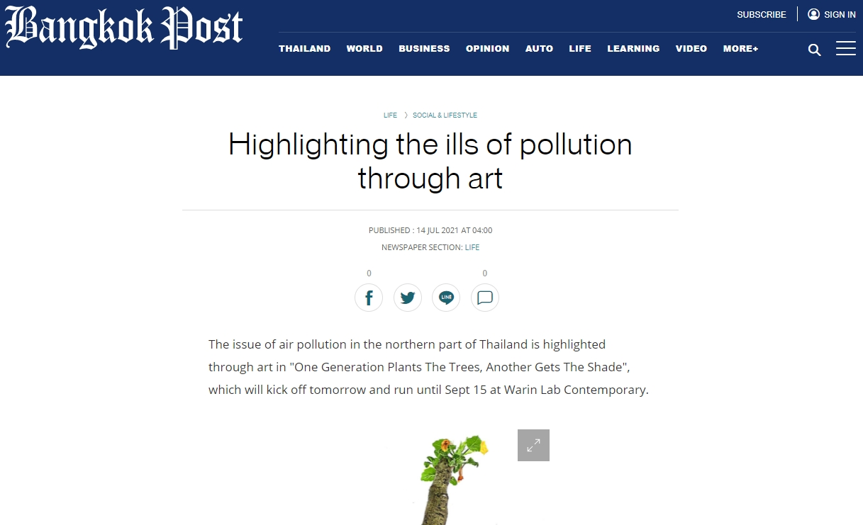 Highlighting the ills of pollution through art