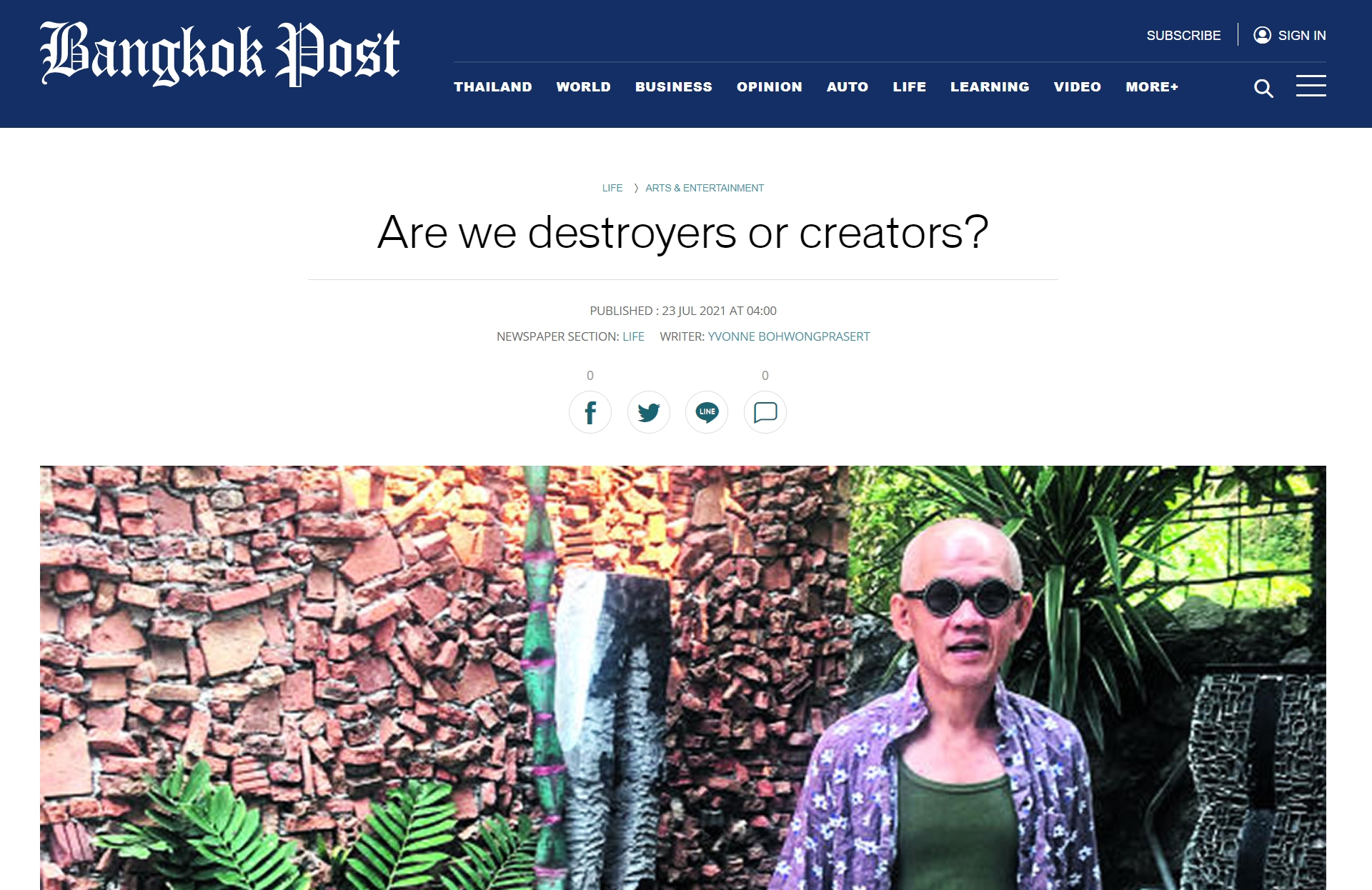 Are we destroyers or creators?
